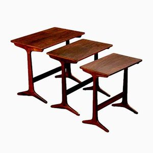 Danish Rosewood Nesting Tables by Erling Torvits for Heltborg Møbler, 1960s