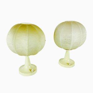 Lampes de Bureau Cocon Mid-Century, 1960s, Set de 2