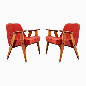 Modell 366 Sessel von Józef Chierowski, 1960er, 2er Set