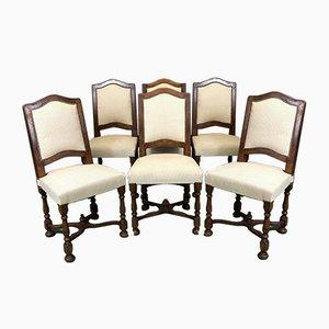 Chaises Vintage en Merisier, 1950s, Set de 6