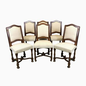 Vintage Stühle mit Gestell aus Kirschholz, 1950er, 6er Set