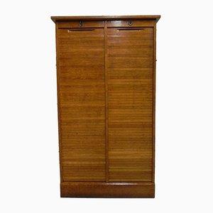 Double Tambour Door Filing Cabinet, 1950s