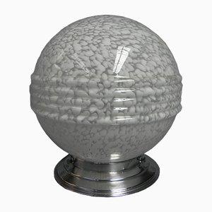 Lámpara de techo Art Déco con esfera de vidrio veteado, años 30