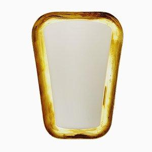 Applique in ottone e vetro di Wilhelm Wagenfeld per Peill & Putzler, anni '50
