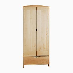 Wardrobe in American Maple by Naylor Studio