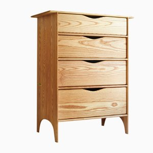 Tallboy Chest in White Ash by Naylor Studio