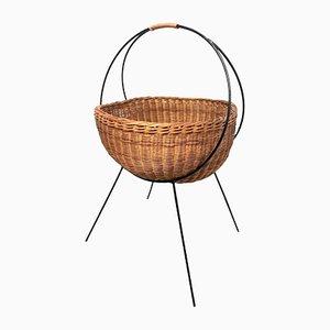 Vintage Basket on Metal Frame