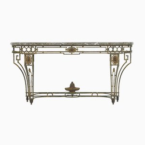 Large 19th-Century Wrought Iron Console Table