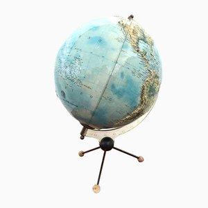 Vintage Globus mit dreibeinigem Gestell von Ricoscope, 1960er