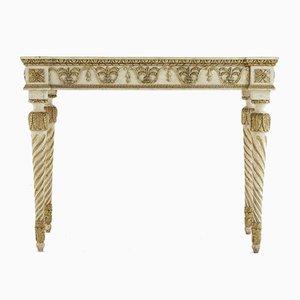 Consolle in legno dorato ed intagliato, Italia, XVIII secolo