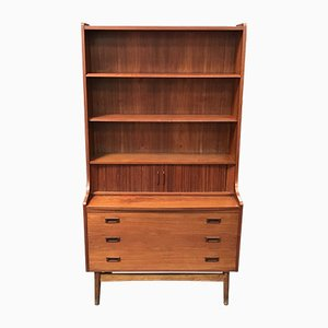 Mid-Century Danish Teak High Secretaire by Johannes Sorth for Bornholm Møbelfabrik