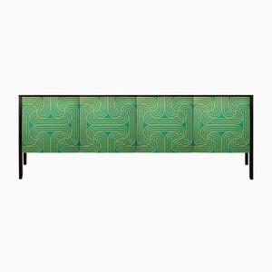 Credenza Loop verde smeraldo a quattro ante di Coucou Manou