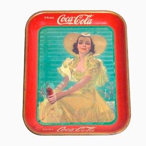 Vintage Coca-Cola Tablett, 1938