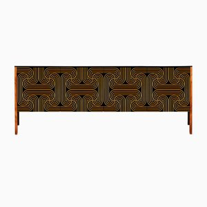 Gold Four Door Loop Sideboard by Coucou Manou