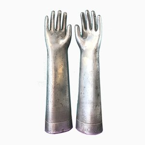 Work Gloves Sculptures from Pirelli, 1930s, Set of 2