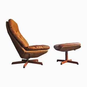 Lounge Chair & Ottoman Set by Madsen & Schübel for Bovenkamp, 1970s