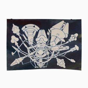 Macchina Inutile 1 Lithograph by Renato Volpini, 1970s