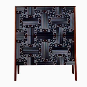 Blue Four Door Loop Cabinet by Coucou Manou