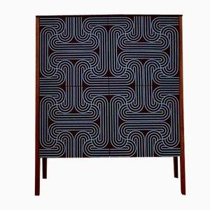 Blue Four Door Loop Cabinet by Coucou Manou