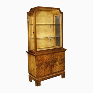 Mid-Century Italian Wooden Display Cabinet, 1950s