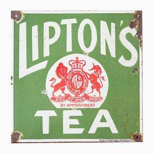 Panneau Thé Lipton Vintage en Émail