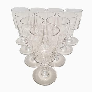 Crystal Port Wine Glasses from Baccarat, 1910s, Set of 10