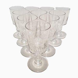 Portweingläser aus Kristallglas von Baccarat, 1910er, 10er Set
