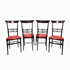 Chiavari Stühle, 1950er, 4er Set
