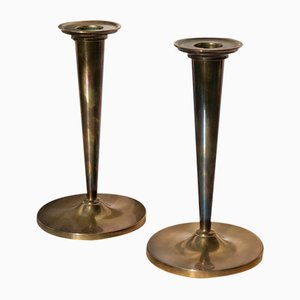 Vintage Swedish Brass Candlesticks by Arthur Pe, 1950s, Set of 2