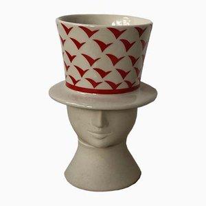 Vase aus Steingut von Lisa Larson für Höganäs, 1980er