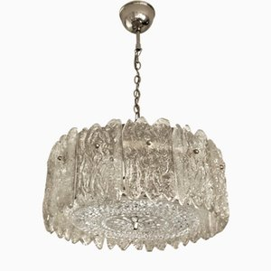 Lampada Mid-Century moderna in cristallo di Carl Fagerlund per Orrefors