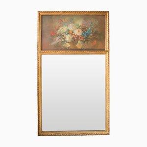 Französischer Vintage Trumeau Spiegel