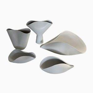 Recipientes Veckla de cerámica de Stig Lindberg para Gustavsberg. Juego de 5