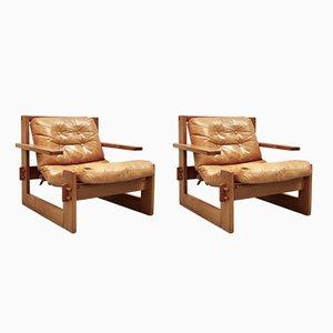Danish Lounge Chairs, 1970s, Set of 2