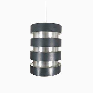 Lámpara colgante Eiffel danesa de aluminio de Johannes Hammerborg para Fog & Mørup, años 60
