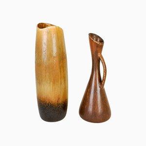 Jarrones suecos de cerámica de Gunnar Nylund para Rörstrand, años 50. Juego de 2
