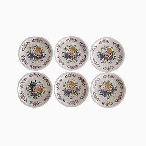 Platos vintage con motivos florales de Moulin Des Loups. Juego de 6