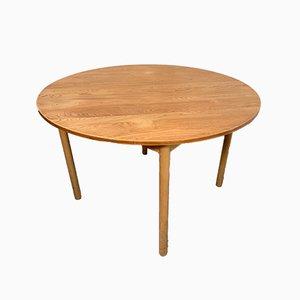 Mesa de comedor vintage de olmo de Ercol, años 60