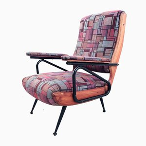 Poltrona vintage reclinabile, Italia, anni '50