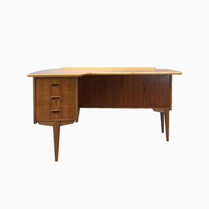 Mid-Century Swedish Model A10 Desk by Göran Strand for Lelångs Möbelfabrik