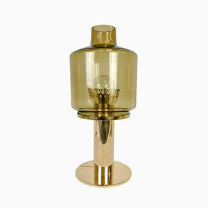 Swedish Brass & Glass Model B-102 Table Lamp by Hans-Agne Jakobsson, 1960s