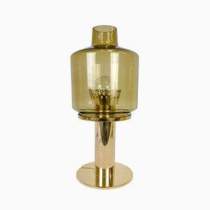 Swedish Brass & Glass Model B-102 Table Lamp by Hans-Agne Jakobsson, 1960s