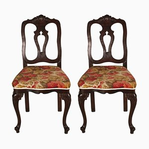 Antike barocke venezianische Beistellstühle, 2er Set