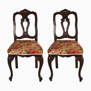 Sedie antiche barocche veneziane, set di 2