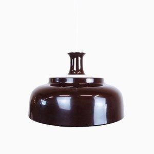 Glockenförmige schwedische Hängelampe aus Metall, 1960er