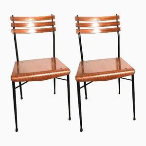 Italienische Mid-Century Stühle, 1960er, 2er Set