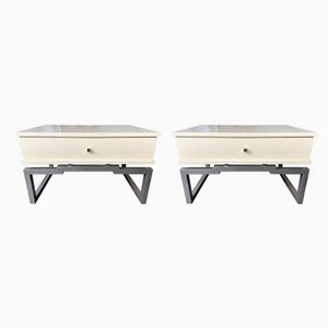 Italian Lacquered Side Tables by Mario Sabot, 1970s, Set of 2