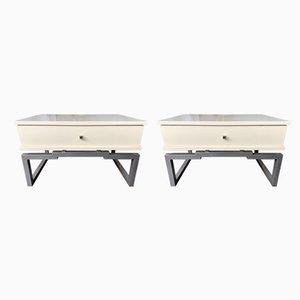 Tables d'Appoint Laquées par Mario Sabot, Italie, 1970s, Set de 2