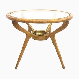 Italian Beech Side Table, 1950s