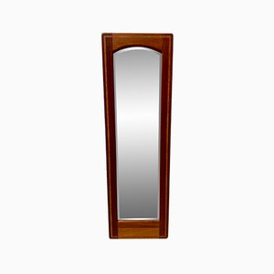 Mid-Century Teak Inlayed Wall Mirror